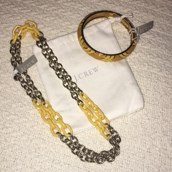 NWT J Crew Single Strand Necklace and Bangle